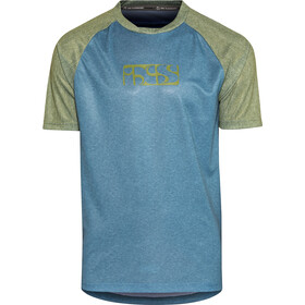 IXS Progressive 8.1 Bike Jersey Shortsleeve Men olive/turquoise